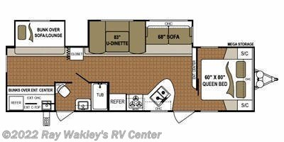 2013 Dutchmen Aspen Trail 3010BHDS Floorplan
