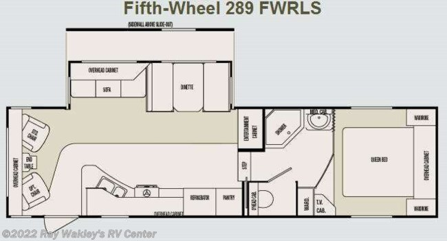 2006 SunnyBrook Brookside 289FWRLS Floorplan