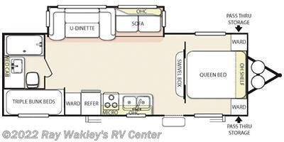 2013 Forest River Salem T26TBUD Floorplan
