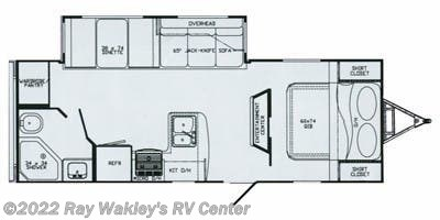 2011 Gulf Stream StreamLite 26 QBS Floorplan