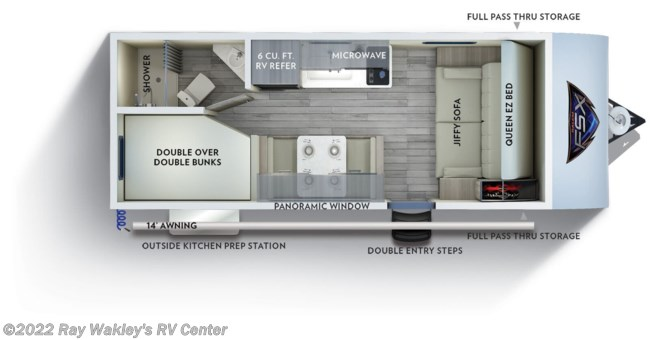 2020 Forest River Salem FSX 179DBK Floorplan