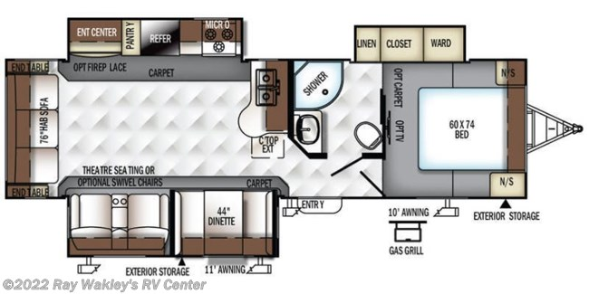 2017 Forest River Rockwood Ultra Lite 2906WS Floorplan