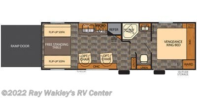 2015 Forest River Vengeance 25V Floorplan