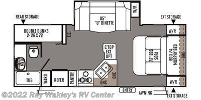 2014 Forest River Rockwood Mini Lite 2504S Floorplan