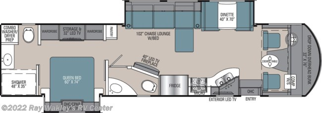 2020 Coachmen Mirada 35LS Floorplan
