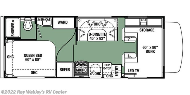 2019 Forest River Forester 2351 LE Floorplan