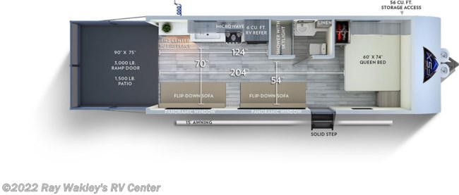 2020 Forest River Salem FSX 190RT Floorplan