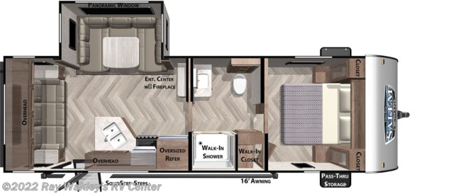 2020 Forest River Salem Cruise Lite 24RLXL Floorplan