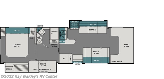 2020 Coachmen Leprechaun 300BH Floorplan