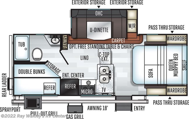 2020 Forest River Rockwood Mini Lite 2509S Floorplan