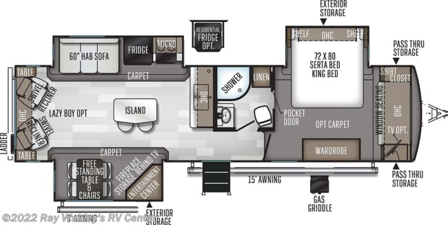 2020 Forest River Rockwood Signature Ultra Lite 8329SB Floorplan