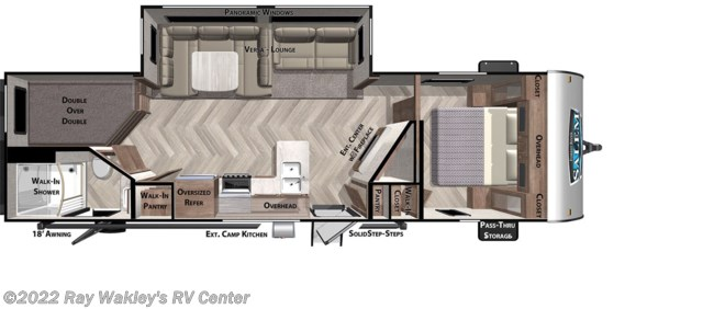 2020 Forest River Salem 26DBUD Floorplan