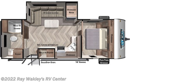 2020 Forest River Salem 22RBS Floorplan
