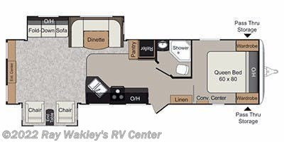 2013 Keystone Passport Ultra Lite Grand Touring 3180RE Floorplan