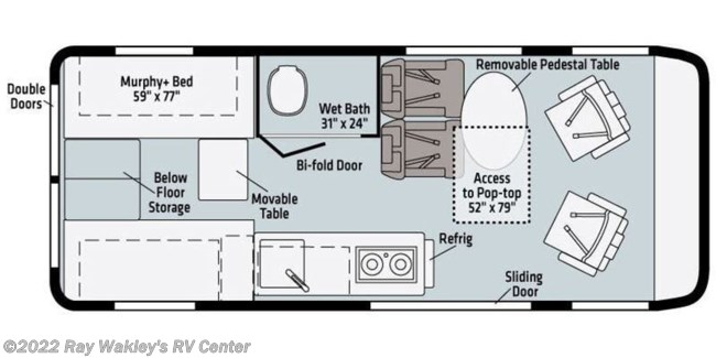 2021 Winnebago Solis 59P Floorplan
