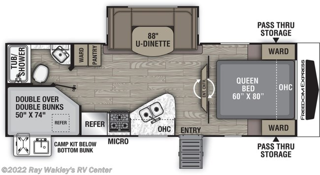 2021 Coachmen Freedom Express Ultra Lite 257BHS Floorplan