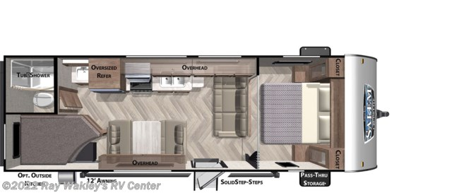 2021 Forest River Salem Cruise Lite 261BHXL Floorplan
