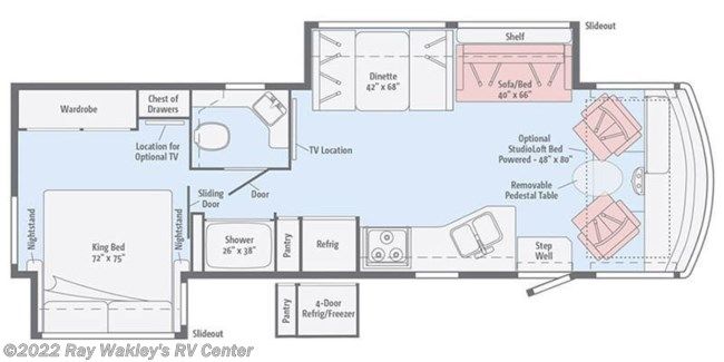 2018 Winnebago Vista 32YE Floorplan