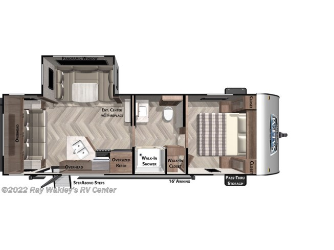 Floorplan of 2021 Forest River Salem Cruise Lite 24RLXL