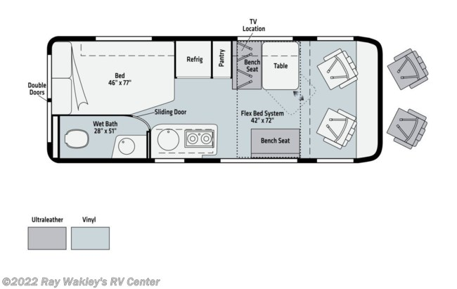 2021 Winnebago Travato 59G Floorplan
