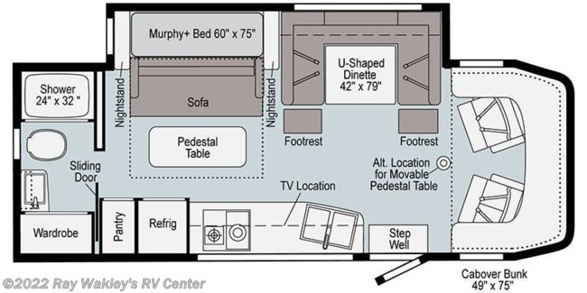2021 Winnebago View 24D Floorplan