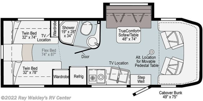 2021 Winnebago View 24V Floorplan