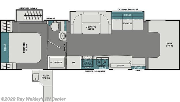 2021 Coachmen Leprechaun 319MB Floorplan