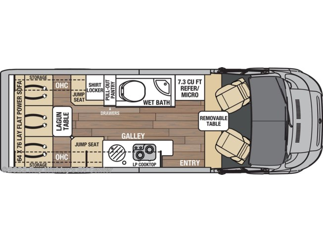 Floorplan of 2021 Coachmen Nova 20C
