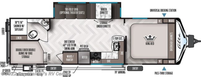 2021 East to West Alta 2800KBH Floorplan