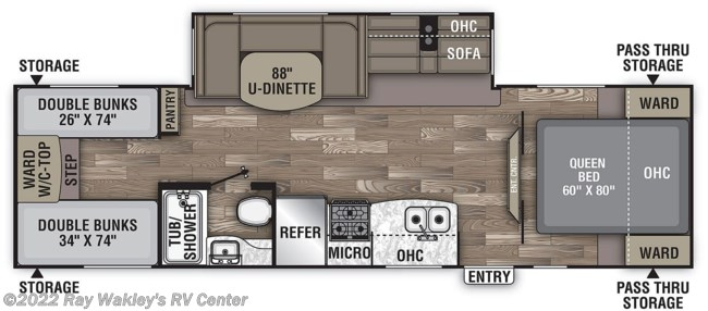 2021 Coachmen Freedom Express Select 29SE Floorplan