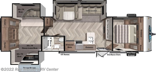 2021 Forest River Salem 31KQBTS Floorplan
