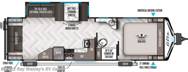 2021 East to West Alta 2850 KRL Floorplan