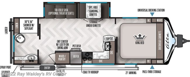 2021 East to West Alta 2600 KRB Floorplan