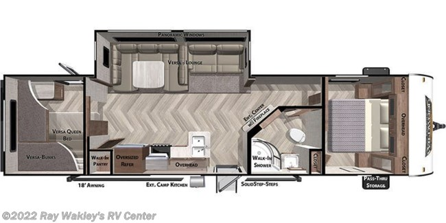 2021 Forest River Salem 29VBUD Floorplan