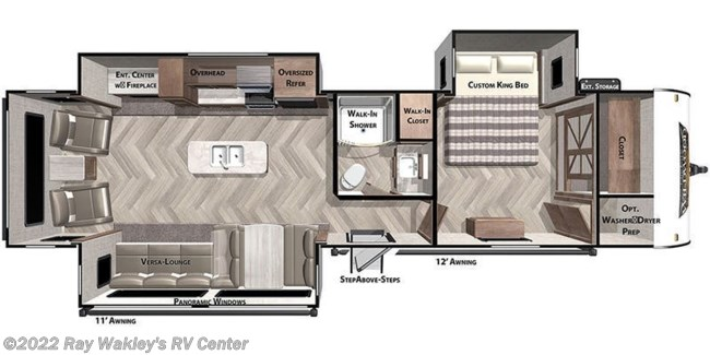 2021 Forest River Salem 32RET Floorplan