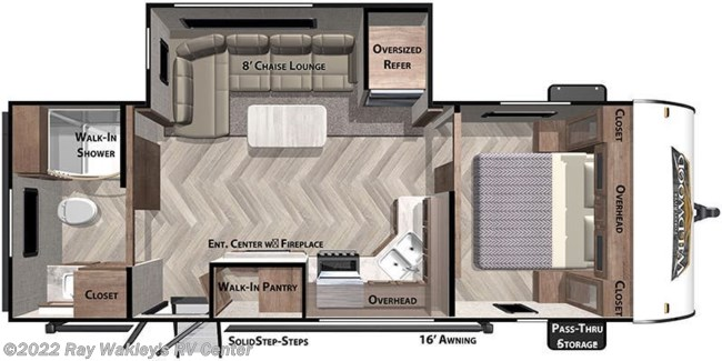 2021 Forest River Salem 22RBS Floorplan