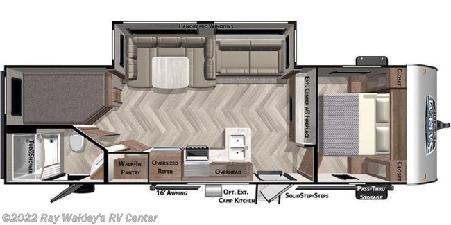 2021 Forest River Salem Cruise Lite 263BHXL Floorplan