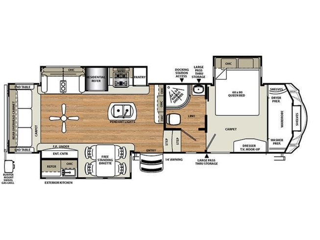 2016 Forest River Sierra 343RSOK floorplan image