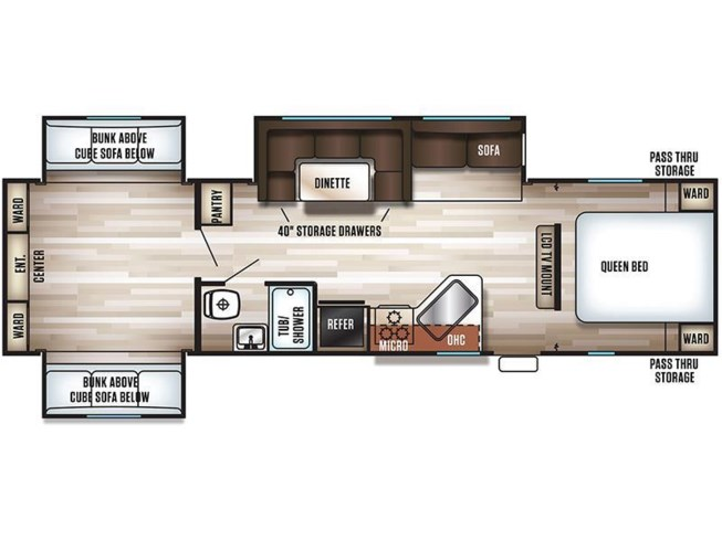 2017 Forest River Cherokee 304BS floorplan image