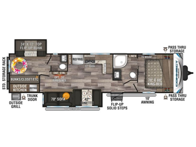 2020 Connect PLATINUM 322BHK by K-Z from McClain's RV Rockwall in Rockwall, Texas