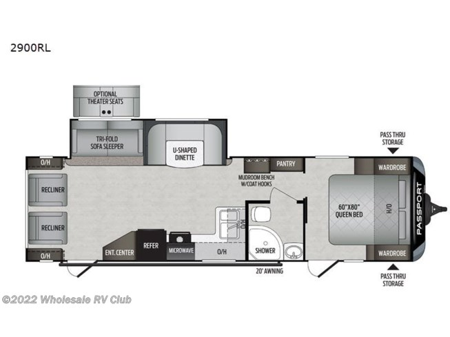 2020 Passport 2900RL GT Series by Keystone from Wholesale RV Club in , Ohio