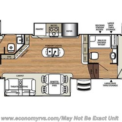 2017 Forest River Sierra 387MKOK floorplan image