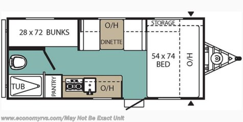 2018 Coachmen Viking 17BH floorplan image