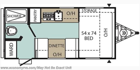 2018 Coachmen Viking 16SFB floorplan image