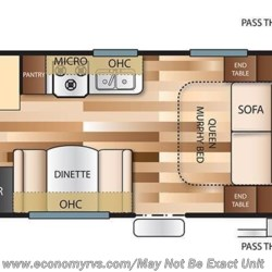 2018 Forest River Salem Cruise Lite 201BHXL floorplan image