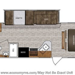 2018 Forest River Wildcat 292QBD floorplan image