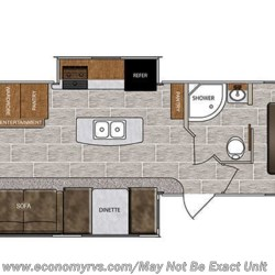 2018 Forest River Wildcat 343BIK floorplan image
