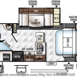 2018 Forest River Rockwood Mini Lite 2509S floorplan image