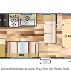 2018 Forest River Salem Cruise Lite 261BHXL floorplan image