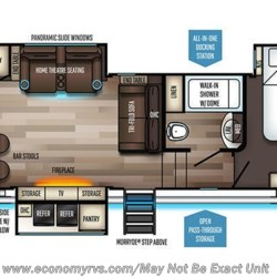 2019 Forest River Sabre 32SKT floorplan image
